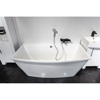 Aquatica Alex Freestanding EcoMarmor Stone Bathtub - White Aquatica Alex-Wht