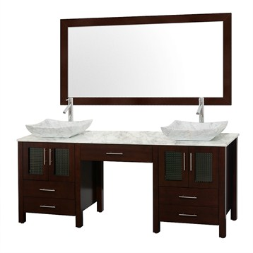 Allandale 75 Double Bathroom Vanity Espresso Free Shipping
