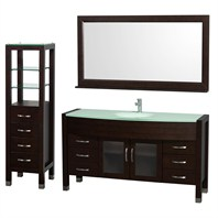 "Daytona 60"" Bathroom Vanity Set by Wyndham Collection - Espresso WC-A-W2109-60-ESP-SET"