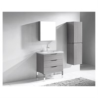 "Madeli Milano 30"" Bathroom Vanity for Integrated Basin - Ash Grey B200-30-002-AG"