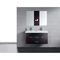 "Virtu USA Opal 48"" Double Sink Bathroom Vanity - Espresso UM-3067-C-ES"