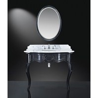 "Luxe Sonnet 45"" Single Bathroom Vanity - High-Gloss Black B7030BV45-PB57"
