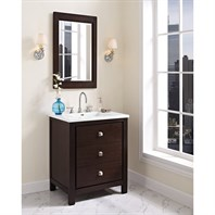 "Fairmont Designs Uptown 30"" Vanity for Integrated Sinktop - Espresso 1519-V30-"