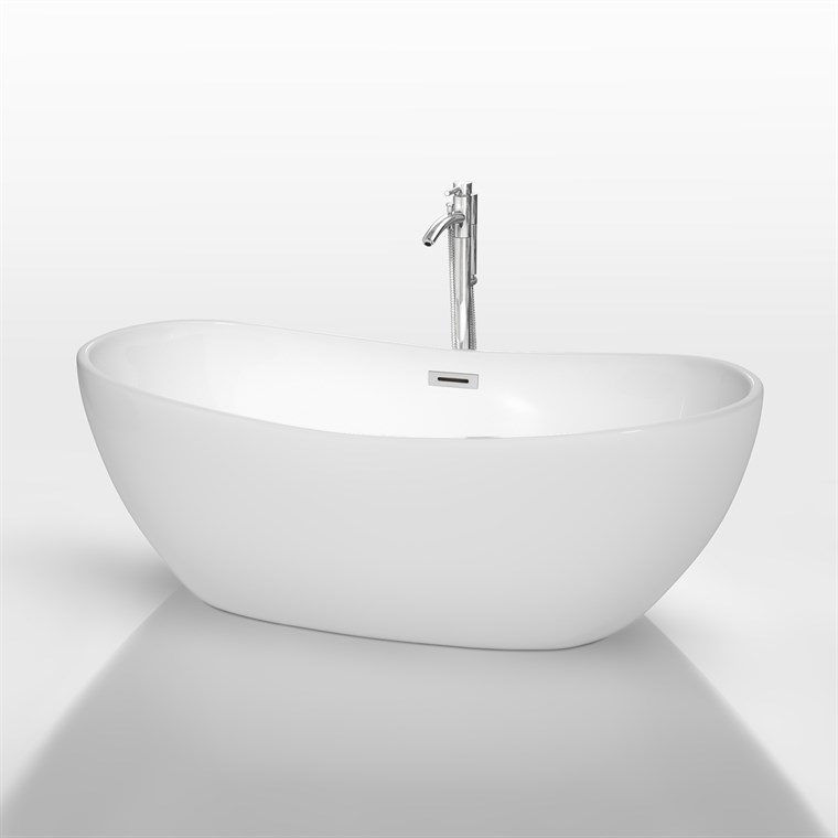 "Rebecca 65"" Soaking Bathtub by Wyndham Collection - White COPY WC-BTU1014-65"