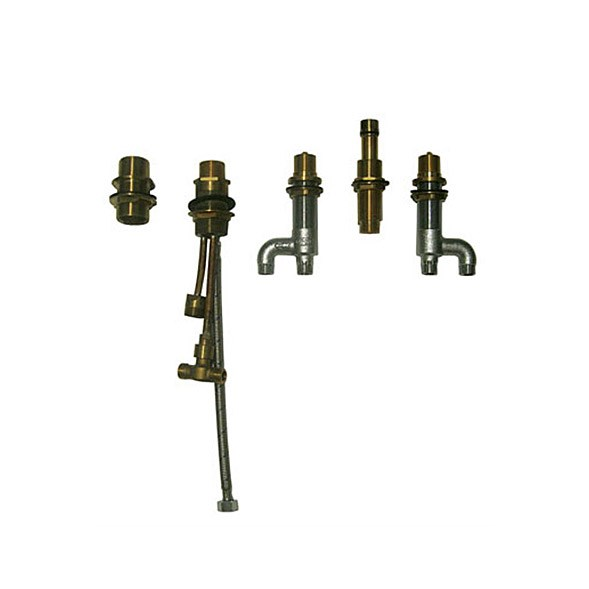 Deck Mounted Bath Faucet Valve with Lever Handles, Handshower and Diverter