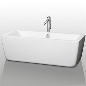 """Laura 67"""" Large Soaking Bathtub by Wyndham Collection WC-BT1005-67 by Wyndham Collection®"""