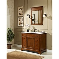 "Fairmont Designs 42"" Framingham Vanity with Integrated Sink Option - Vintage Maple 1501-V42-"