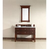 "James Martin 48"" Andover Single Vanity with Guangxi Marble Top - Warm Cherry 950-V48-WCH-GWH"