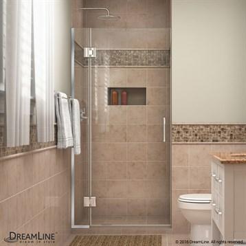 Bath Authority DreamLine UniDoor-X 29, 36 in. W x 72 in. H Hinged Shower Door D12372 by Bath Authority DreamLine