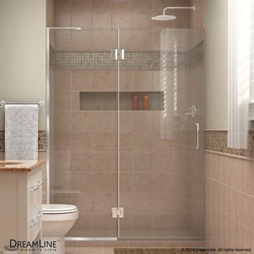 Bath Authority DreamLine UniDoor-X 47, 54 in. W x 72 in. H Hinged Shower Door D32372 by Bath Authority DreamLine