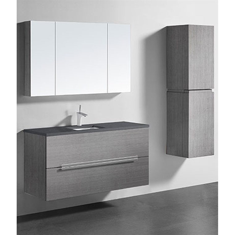 "Madeli Urban 48"" Single Bathroom Vanity for Quartzstone Top - Ash Grey B300-48C-002-AG-QUARTZ"