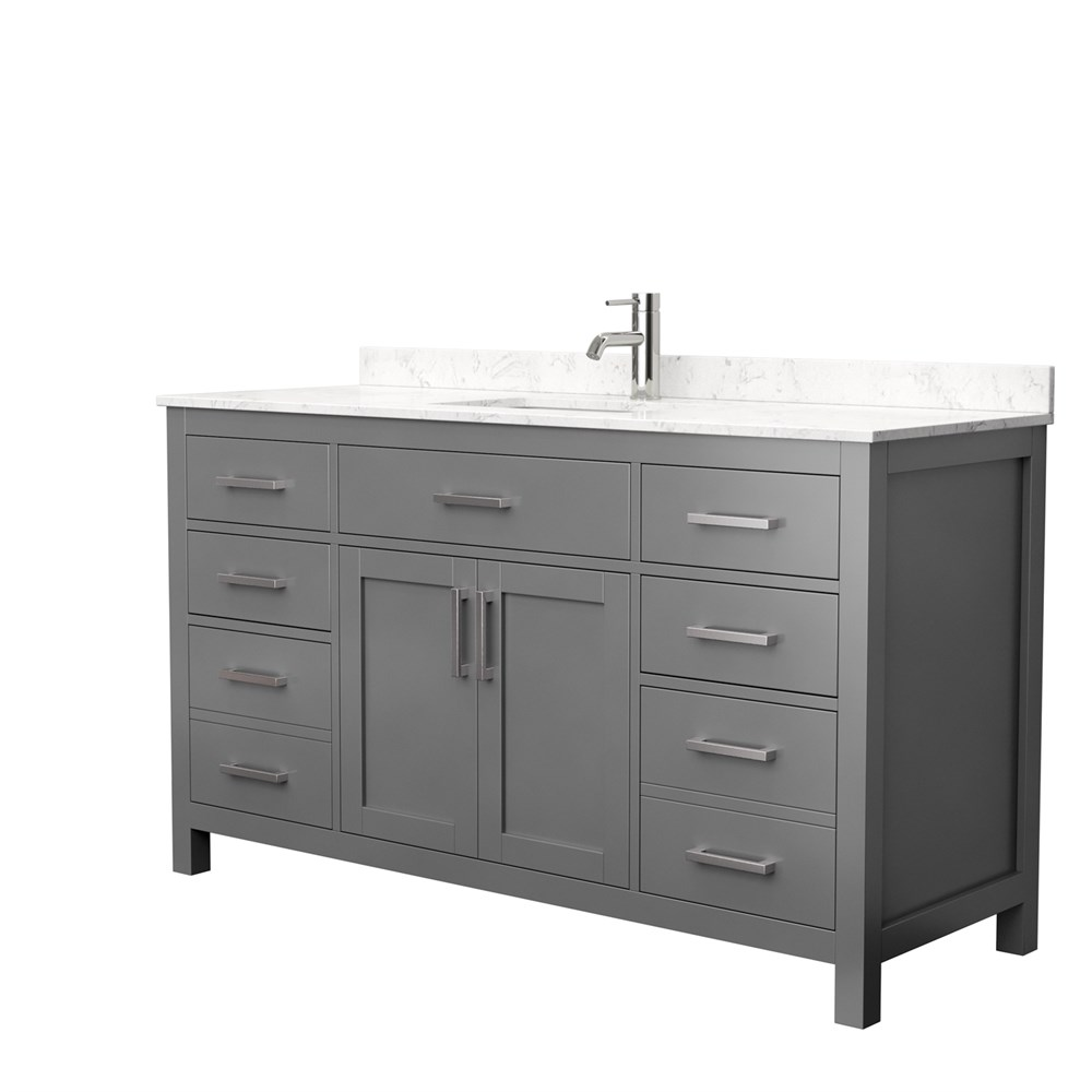 "Beckett 60"" Single Bathroom Vanity by Wyndham Collection - Dark Gray WC-2424-60-SGL-VAN-DKG"