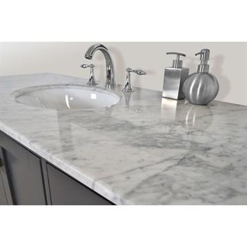 Stufurhome Lissa Single Sink Bathroom Vanity Gray