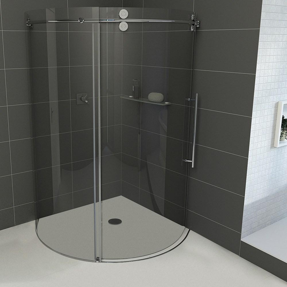 "Vigo Industries Frameless Round Shower Enclosure - 40"" x 40""nohtin Sale $1813.99 SKU: VG06031-40x40 :"
