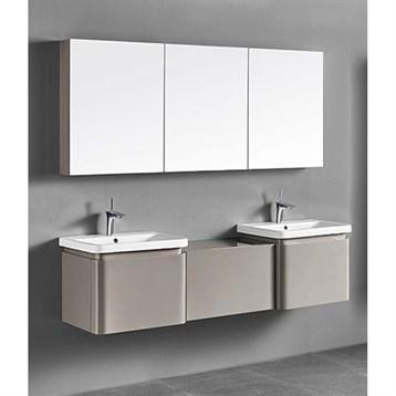 "Madeli Euro 72"" Double Bathroom Vanity for Integrated Basins, Silk 2X-B930-24-002-SK, UC930-24-007-SK by Madeli"