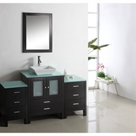 "Virtu USA Brentford 63"" Single Sink Bathroom Vanity - Espresso MS-4463"