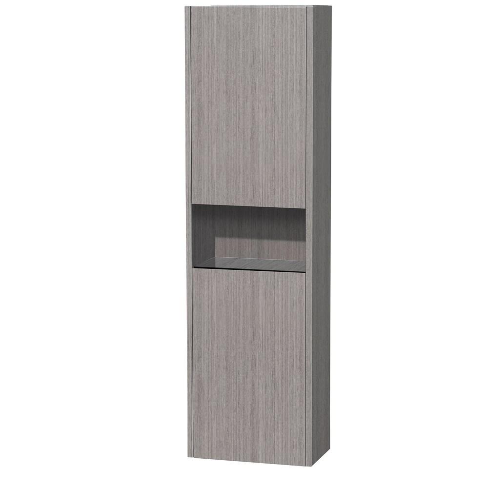 Diana Wall Cabinet by Wyndham Collection - Gray Oaknohtin Sale $499.00 SKU: WC-V203-GROAK :