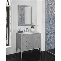 "Fairmont Designs Charlottesville 36"" Vanity for Undermount Oval Sink - Light Gray 1510-V36_"