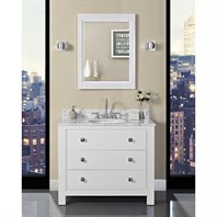 "Fairmont Designs Uptown 42"" Vanity for Undermount Oval Sink - Glossy White 1520-V42_"