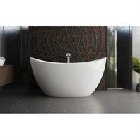Aquatica Purescape 171 Mini Freestanding Cast Stone Bathtub - White Aquatica PS171-Mini-Wht