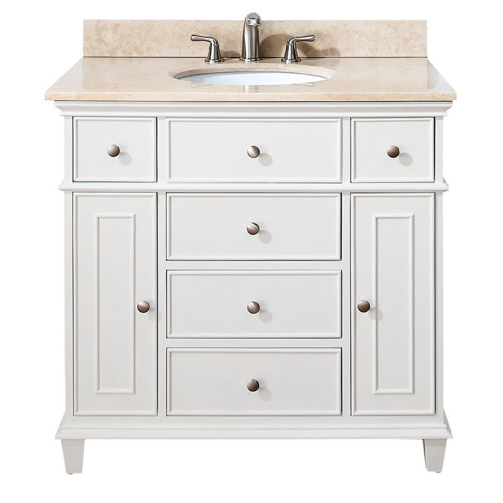 "Avanity Windsor 36"" Vanity - Whitenohtin Sale $850.00 SKU: WINDSOR-36-WT :"