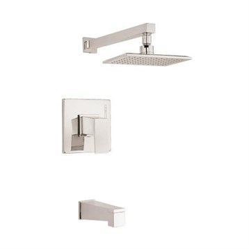 Danze Mid-Town 1H Tub & Shower Trim Kit w/ Diverter on Spout 1.75gpm, Brushed Nickel D501062BNT by Danze