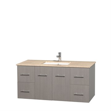 Centra 48 Quot Single Bathroom Vanity For Undermount Sinks By