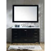 "Ariel Cambridge 61"" Single Sink Vanity with Carrara White Marble Countertop - Espresso A061S-VO-ESP"