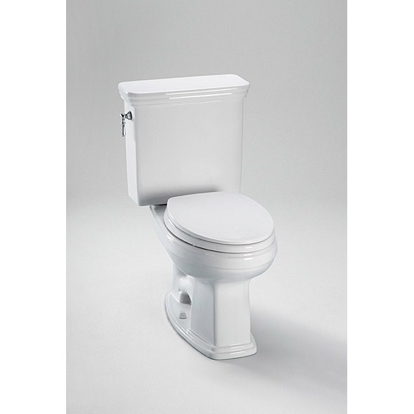 TOTO® Eco Promenade® High Efficiency Two-Piece Toilet w/ Sanagloss® - Cotton White