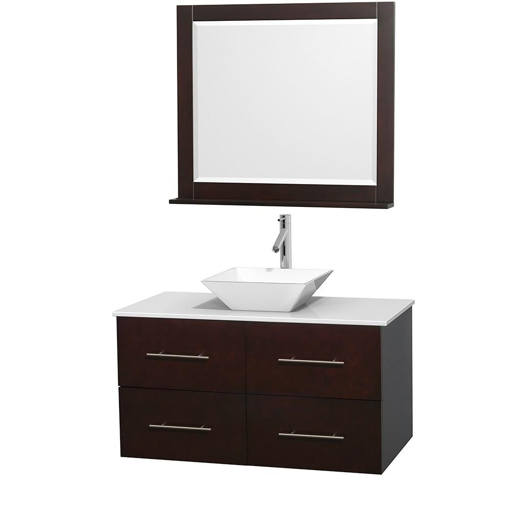 """Centra 42"""" Single Bathroom Vanity for Vessel Sink by Wyndham Collection - Espressonohtin Sale $999.00 SKU: WC-WHE009-42-SGL-VAN-ESP_ :"""