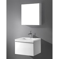"Madeli Venasca 24"" Bathroom Vanity with Quartzstone Top - Glossy White Venasca-24-GW-Quartz"