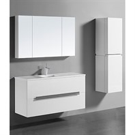 "Madeli Urban 48"" Single Bathroom Vanity for Quartzstone Top - Glossy White B300-48C-002-GW-QUARTZ"