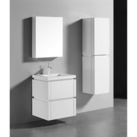"Madeli Cube 24"" Wall-Mounted Bathroom Vanity for Integrated Basin - Glossy White B500-24-002-GW"