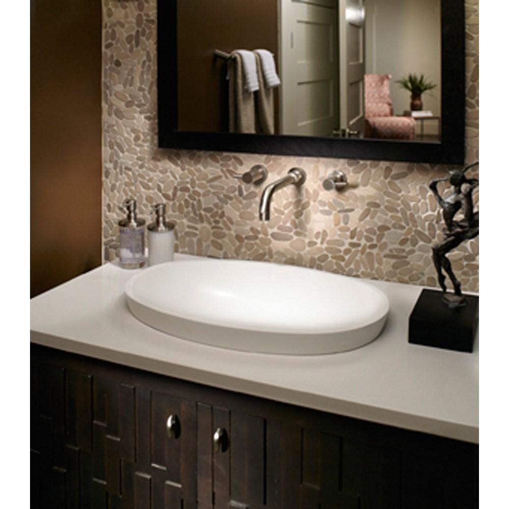 oval bathroom lavatory