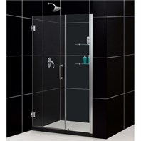 "Bath Authority DreamLine Unidoor Frameless Adjustable Shower Door with Glass Shelves (48""-49"") SHDR-20487210CS"