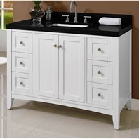 "Fairmont Designs Shaker Americana 48"" Vanity for Quartz Top - Polar White 1512-V48"