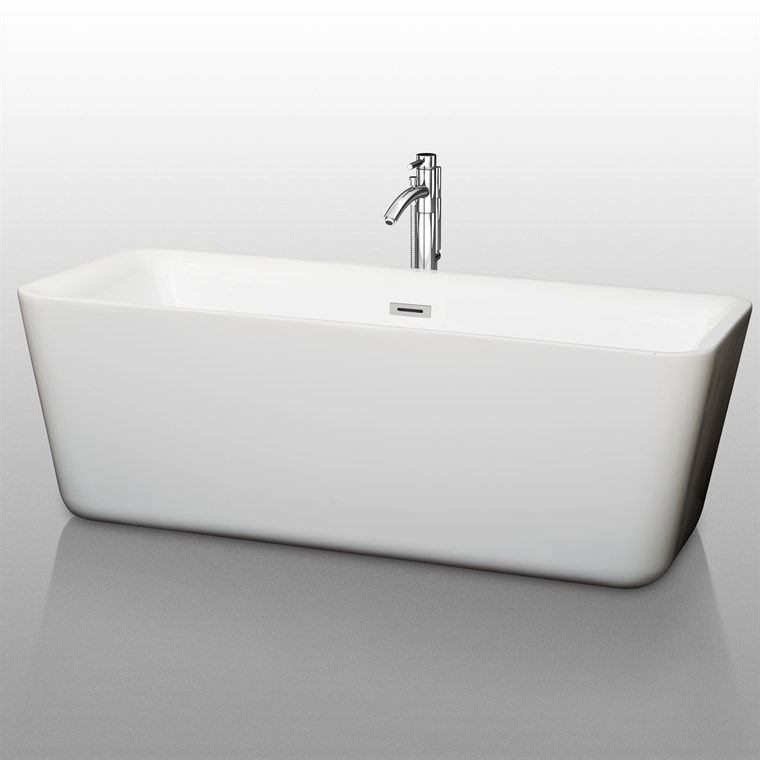 "Emily 69"" Soaking Bathtub by Wyndham Collection WC-BT1001-69"