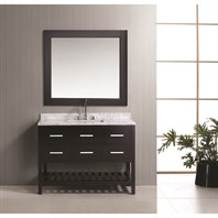 "Design Element London 48"" Vanity Set with Open Bottom - Espresso DEC077D-48"