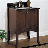 "Fairmont Designs 24"" Lifestyle Collection Shaker Vanity - Dark Cherry"