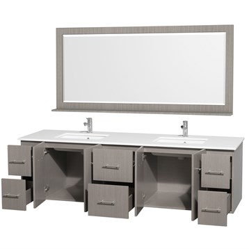 Centra 80 Quot Double Bathroom Vanity For Undermount Sinks By