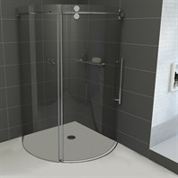 "Vigo Industries Frameless Round Shower Enclosure - 40"" x 40"" VG06031-40x40"