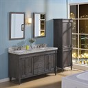 "Fairmont Designs Rustic Chic 60"" Vanity-Double Bowl for Quartz Top - Silvered Oak 143-V6021D_"