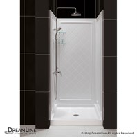 "Bath Authority DreamLine SlimLine Single Threshold Shower Base and QWALL-5 Shower Backwalls Kit (32"" by 32"") DL-6195C-01"