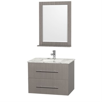 "Centra 30"" Single Bathroom Vanity for Undermount Sinks by Wyndham Collection, Gray Oak WC-WHE009-30-SGL-VAN-GRO- by Wyndham Collection®"