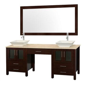 Allandale 75 double bathroom vanity espresso free for All modern bathroom vanity