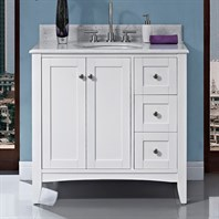 "Fairmont Designs Shaker Americana 36"" Vanity Drawer-right - Polar White 1512-V36R_"