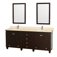 Acclaim 80 in. Double Bathroom Vanity by Wyndham Collection - Espresso WC-CG8000-80-DBL-VAN-ESP-