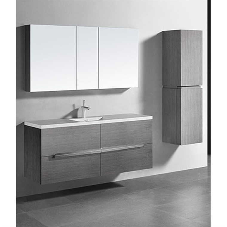 "Madeli Urban 60"" Single Bathroom Vanity for Integrated Basin - Ash Grey B300-60C-002-AG"