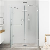 "Vigo Industries Frameless Rectangular Shower Enclosure - 32"" x 48"", Clear VG6011CL-32x48"