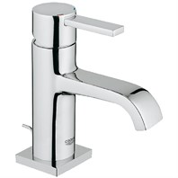 Grohe Allure Lavatory Single-hole Centerset M-Size with Pop-up Waste - Starlight Chrome GRO 23077000